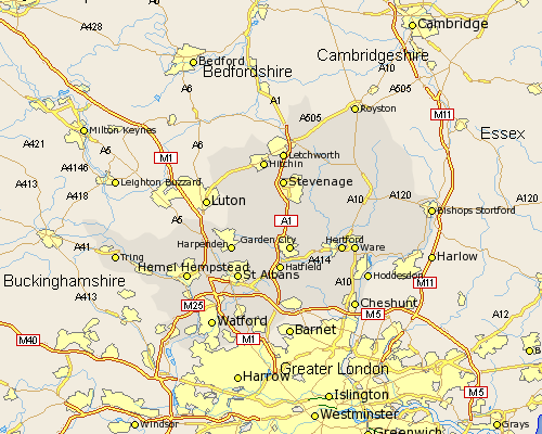 hertfordshire-map